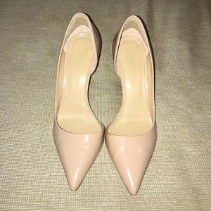 Michael Kors Nude Patent D'Orsay Heels Size 9